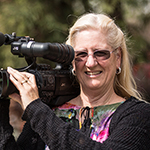 Candace Egan with camera